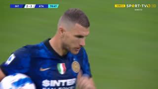 GOLO! Internazionale, E. Džeko aos 71', Internazionale 2-2 Atalanta