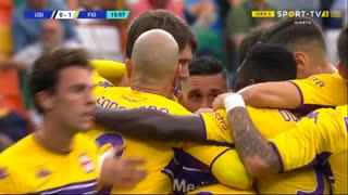 GOLO! Fiorentina, D. Vlahović aos 16', Udinese 0-1 Fiorentina