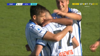 GOLO! Atalanta, J. Iličić aos 26', Empoli 0-2 Atalanta