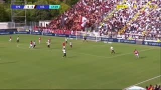 GOLO! Milan, D. Maldini aos 48', Spezia 0-1 Milan