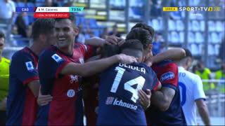 GOLO! Cagliari, M. Cáceres aos 74', Cagliari 2-0 Sampdoria