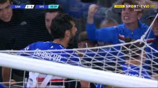 GOLO! Sampdoria, A. Candreva aos 36', Sampdoria 2-0 Spezia