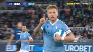 GOLO! Lazio, C. Immobile aos 64', Lazio 1-1 Internazionale