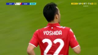 GOLO! Sampdoria, M. Yoshida aos 44', Juventus 2-1 Sampdoria