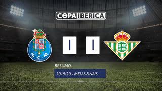 Copa Ibérica (Meias-Finais): Resumo FC Porto 1-1 Betis