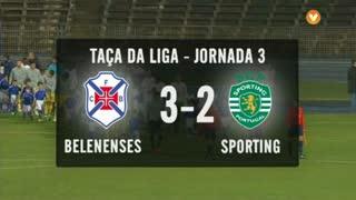 Taça da Liga (Fase 3 - Jornada 3): Resumo Belenenses 3-2 Sporting CP