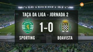 Taça da Liga (Fase 3 - Jornada 2): Resumo Sporting CP 1-0 Boavista FC