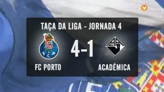 Taça da Liga (Grupo D - 4ª Jornada): Resumo FC Porto 4-1 Académica