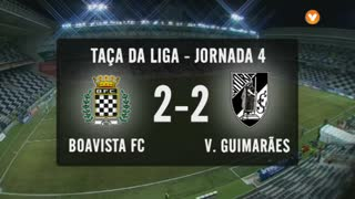 Taça da Liga (Fase 3 - Jornada 4): Resumo Boavista FC 2-2 Vitória SC