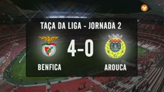 Taça da Liga (Fase 3 - Jornada 2): Resumo SL Benfica 4-0 FC Arouca