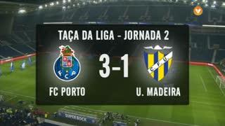 Taça da Liga (Fase 3 - Jornada 2): Resumo FC Porto 3-1 U. Madeira