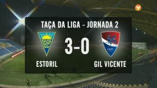 Taça da Liga (Fase 3 - Jornada 2): Resumo Estoril Praia 3-0 Gil Vicente FC