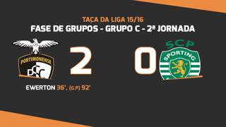 Taça da Liga (Fase 3 - Jornada 2): Resumo Portimonense 2-0 Sporting CP