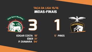 Taça da Liga (Meias-Finais): Resumo Marítimo M. 3-1 Portimonense