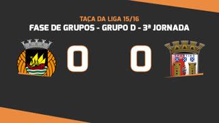 Taça da Liga (Fase 3 - Jornada 3): Resumo Rio Ave FC 0-0 SC Braga
