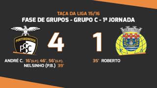 Taça da Liga (Fase 3 - Jornada 1): Resumo Portimonense 4-1 FC Arouca
