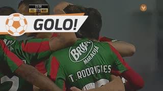 GOLO! Marítimo M., Tiago Rodrigues aos 24', CD Feirense 1-2 Marítimo M.