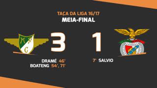 Taça da Liga (Meias-Finais): Resumo Moreirense FC 3-1 SL Benfica
