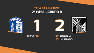 Taça da Liga (Fase 3 - Jornada 1): Resumo Vizela 1-2 Vitória SC