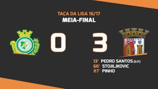 Taça da Liga (Meias-Finais): Resumo Vitória FC 0-3 SC Braga