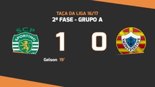 Taça da Liga (Fase 3 - Jornada 2): Resumo Sporting CP 1-0 Varzim SC