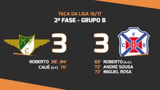 Taça da Liga (Fase 3 - Jornada 2): Resumo Moreirense FC 3-3 Belenenses