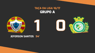 Taça da Liga (Fase 3 - Jornada 1): Resumo Varzim SC 1-0 Vitória FC