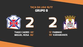 Taça da Liga (Fase 3 - Jornada 3): Resumo Os Belenenses 2-2 CD Feirense