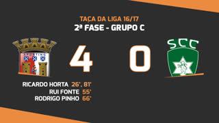 Taça da Liga (Fase 3 - Jornada 2): Resumo SC Braga 4-0 SC Covilhã