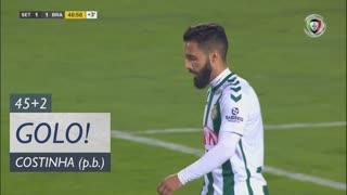 GOLO! SC Braga, Costinha (p.b.) aos 45'+2', Vitória FC 1-1 SC Braga