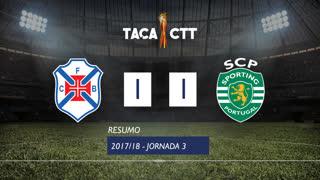 Taça CTT (Fase 3 - Jornada 3): Resumo Os Belenenses 1-1 Sporting CP