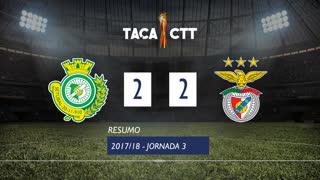 Taça CTT (Fase 3 - Jornada 3): Resumo Vitória FC 2-2 SL Benfica