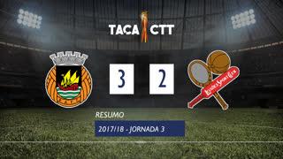 Taça CTT (Fase 3 - Jornada 3): Resumo Rio Ave FC 3-2 Leixões SC