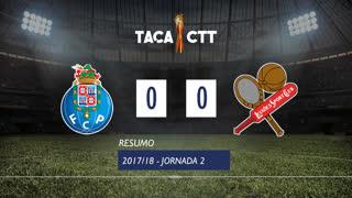 Taça CTT (Fase 3 - Jornada 2): Resumo FC Porto 0-0 Leixões SC