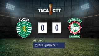 Taça CTT (Fase 3 - Jornada 1): Resumo Sporting CP 0-0 Marítimo M.