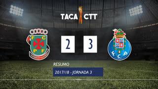 Taça CTT (Fase 3 - Jornada 3): Resumo FC P.Ferreira 2-3 FC Porto