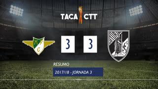 Taça CTT (Fase 3 - Jornada 3): Resumo Moreirense FC 3-3 Vitória SC