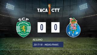 Taça CTT (Meias-Finais): Resumo Sporting CP 0-0 FC Porto