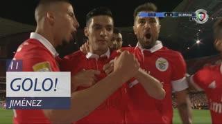 GOLO! SL Benfica, R. Jiménez aos 11', SL Benfica 1-0 SC Braga