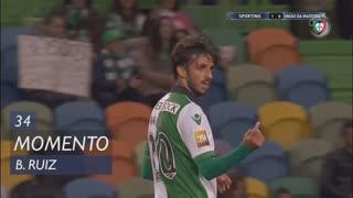 Sporting CP, Jogada, B. Ruiz aos 34'