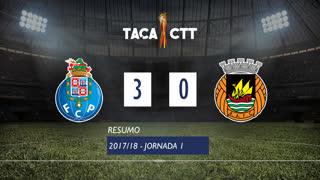Taça CTT (Fase 3 - Jornada 1): Resumo FC Porto 3-0 Rio Ave FC