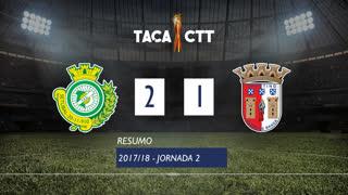Taça CTT (Fase 3 - Jornada 2): Resumo Vitória FC 2-1 SC Braga