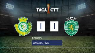 Taça CTT (Final): Resumo Vitória FC 1-1 Sporting CP