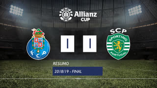 Allianz Cup (Final): Resumo FC Porto 1-1 Sporting CP
