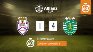 Allianz Cup (Fase 3 - Jornada 3): Resumo Flash CD Feirense 1-4 Sporting CP