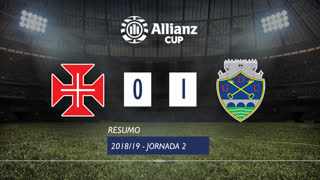 Allianz Cup (Fase 3 - Jornada 2): Resumo Belenenses SAD 0-1 GD Chaves