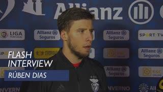 Taça da Liga (Meias-Finais): Flash interview Rúben Dias