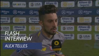 Taça da Liga (Fase de Grupos): Flash interview Alex Telles