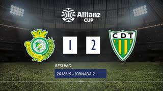 Allianz Cup (Fase 3 - Jornada 2): Resumo Vitória FC 1-2 CD Tondela