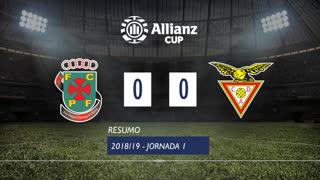 Allianz Cup (Fase 3 - Jornada 1): Resumo FC P.Ferreira 0-0 CD Aves